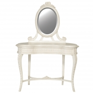 Provencal Carved White French Dressing Table