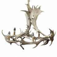 Fight Me Antler Chandelier