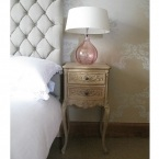 Antoinette Floral Oak Bedside Table