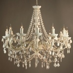 Mimi White 12-Arm Chandelier (Image 1)