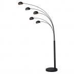 Black and Gold 5-Arm Floor Lamp