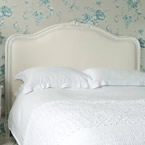 Provencal Upholstered White Bed (Image 2)