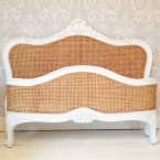 Emily White Framed Rattan Bed