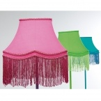 Fluoro Fringe Shocking Pink Table Lamp (Image 6) by The French Bedroom Company
