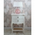 Provencal 2-Drawer White Bedside Table (Image 5)