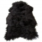 Black Icelandic Sheepskin