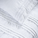 Ruffle Ruched White Bed Linen (Image 1)