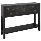 Rama & Sita Black Console Table