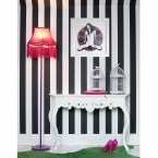Fluoro Fringe Shocking Pink Floor Lamp