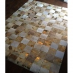 Midas Touch Hide Giant Patchwork Rug