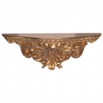 Romeo & Juliet Gold Carved Shelf