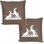 Country Canter Rabbit Cushions (pair)