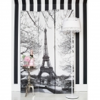 Café de Paris Dressing Screen (Image 3) by The French Bedroom Company