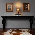 Beetlejuice High Gloss Black Console Table