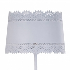 Large Lacey White Floor Lamp (Image 2)