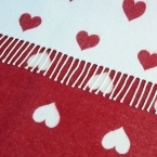 Queen of Hearts Red & White Blanket & Cushion (Image 2)