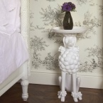 Obedient Poodle White Side Table (Image 2)