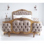 Versailles Curved Luxury Upholstered Bed (Image 2) by The French Bedroom Company