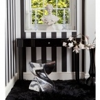 Beaute Mystique Black Glass Console Table