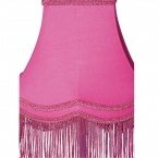 Fluoro Fringe Shocking Pink Table Lamp (Image 3) by The French Bedroom Company