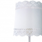 Little Lacey White Lamp (Image 2)