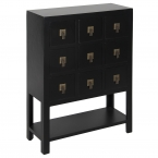 Rama & Sita Black Chest of Drawers