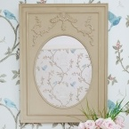 French Grey Oval Mirror
