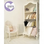 Provencal Antique White Baby Showcase