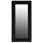 Dracule Black Velvet Floor Mirror