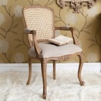 Antoinette Rattan Oak Chair
