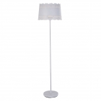 Large Lacey White Floor Lamp (Image 1)