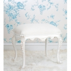 Provencal White Dressing Stool