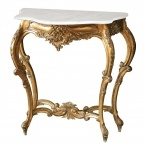 Versailles Gold Shabby Chic Console Table (small) (Image 1) by The French Bedroom Company