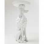 Obedient Poodle White Side Table (Image 4)