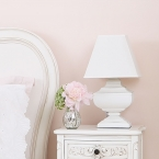 Squat Shabby Chic Lamp (Image 1) by The French Bedroom Company