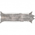 Superlong Stretched Cowhide Rug, Bleached