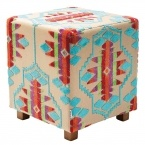 Aztec Stool in Beige
