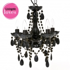 Petit Black Chandelier (Image 1) by The French Bedroom Company