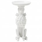 Obedient Poodle White Side Table (Image 6)