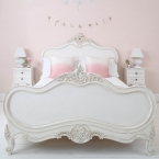 Provencal Louis XV White Luxury French Bed