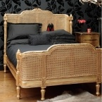Lit Lit Gold Rattan Bed