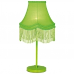 Fluoro Fringe Lime Green Table Lamp