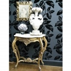 Versailles Gold Shabby Chic Console Table (small) (Image 2) by The French Bedroom Company