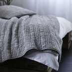 Ruffle Ruched White Bed Linen (Image 3)