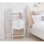 Provencal 2-Drawer White Bedside Table (Image 1)