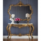 Versailles Gold Console Table (large) (Image 1) by The French Bedroom Company