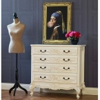 Provencal 4-Drawer Carved Chest