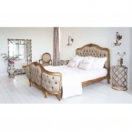 Versailles Curved Luxury Upholstered Bed (Image 5) by The French Bedroom Company