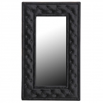 Dracule Black Velvet Wall Mirror