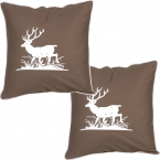 Country Canter Deer Cushions (pair)